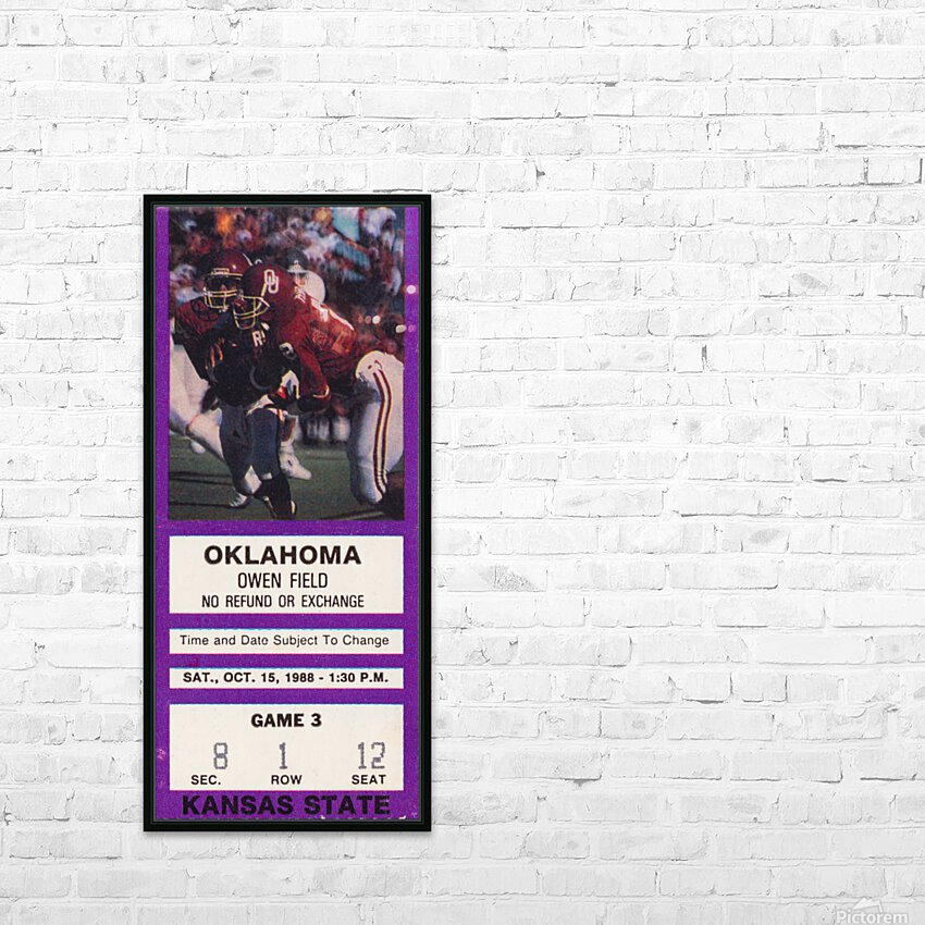 1988 Oklahoma Sooners vs. Kansas State HD Sublimation Metal print with Decorating Float Frame (BOX)