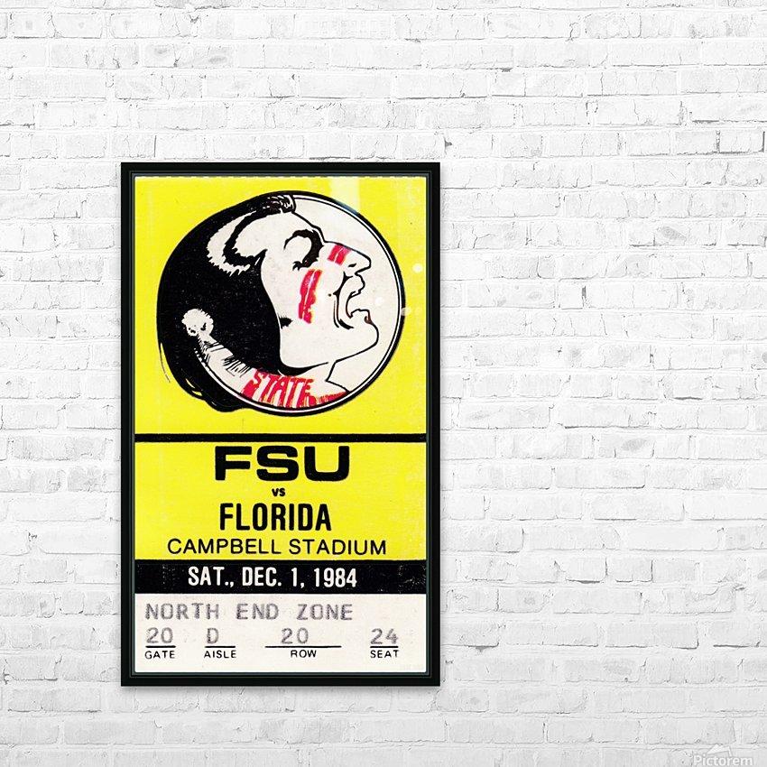 1984 FSU vs. Florida HD Sublimation Metal print with Decorating Float Frame (BOX)