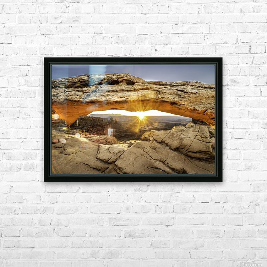 The Great Eye HD Sublimation Metal print with Decorating Float Frame (BOX)