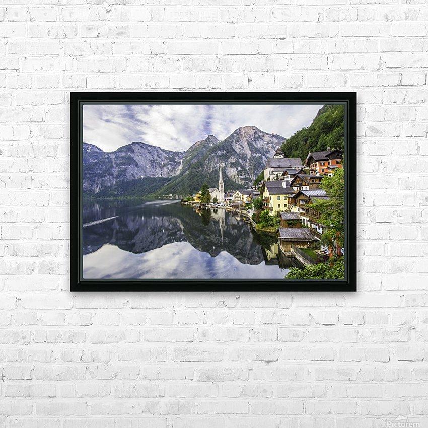 Hallstatt Sunrise HD Sublimation Metal print with Decorating Float Frame (BOX)