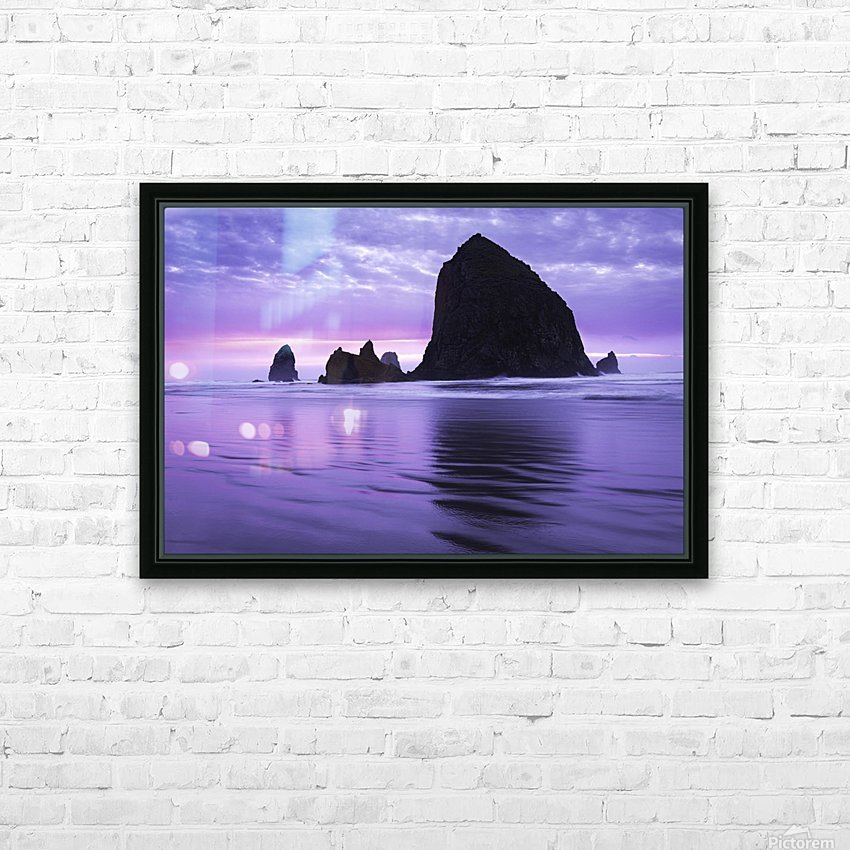 Cannon Beach HD Sublimation Metal print with Decorating Float Frame (BOX)