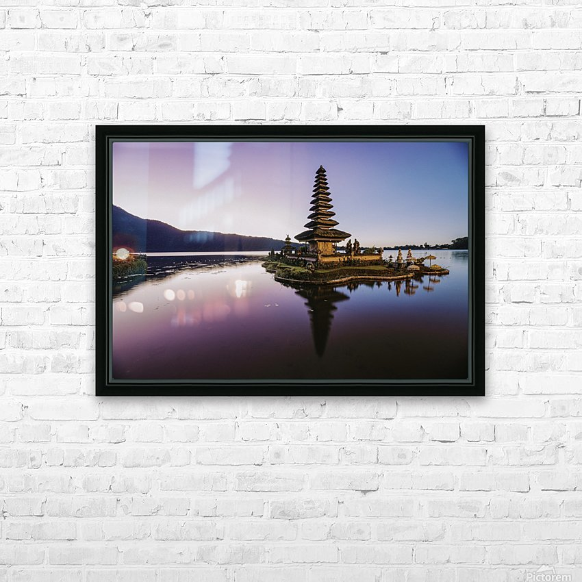 Sunrise in Bali HD Sublimation Metal print with Decorating Float Frame (BOX)