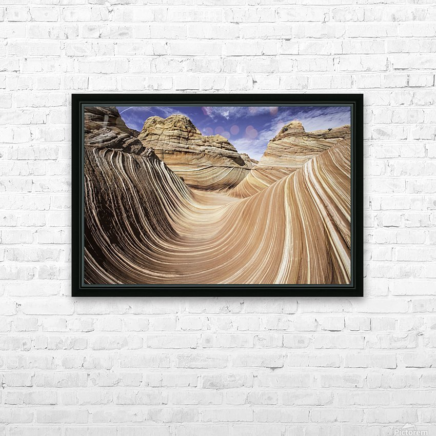 Sand Waves HD Sublimation Metal print with Decorating Float Frame (BOX)