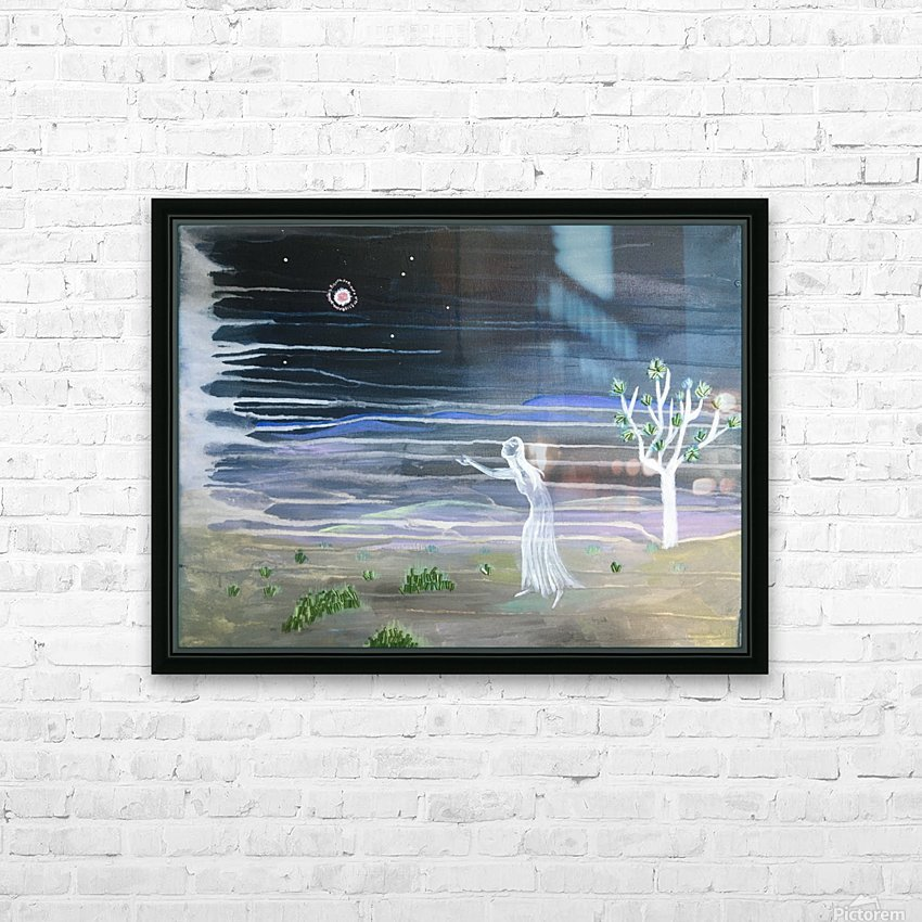 She chased the moon HD Sublimation Metal print with Decorating Float Frame (BOX)
