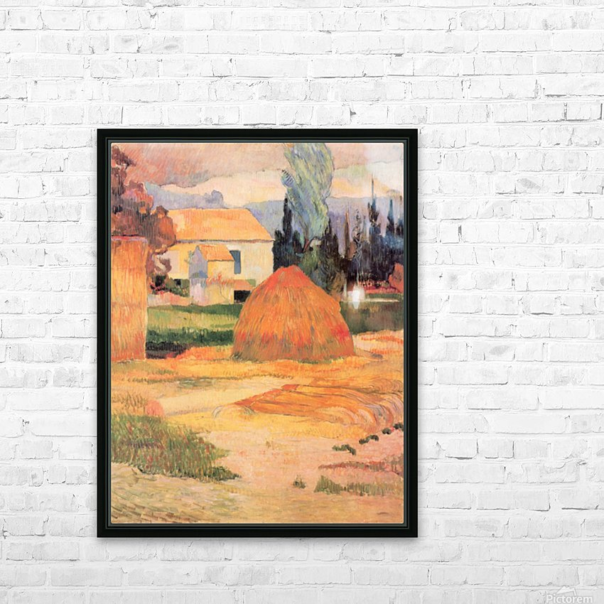 Farmhouses in Arles by Gauguin HD Sublimation Metal print with Decorating Float Frame (BOX)