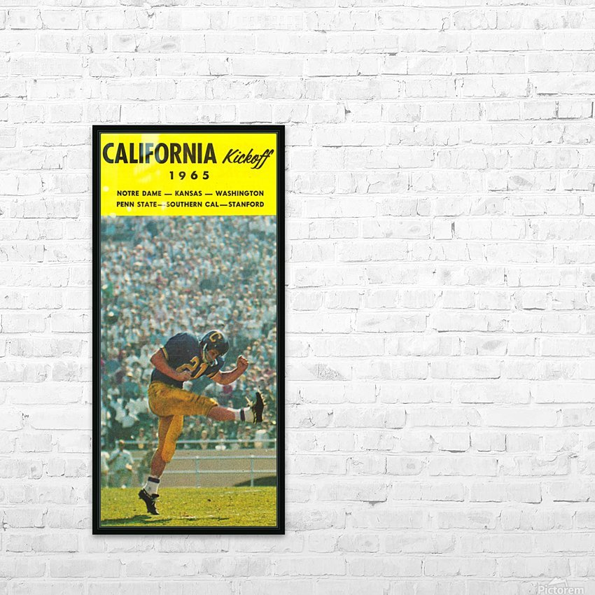 1965 College Football Photo California Bears Kickoff Punter Art HD Sublimation Metal print with Decorating Float Frame (BOX)