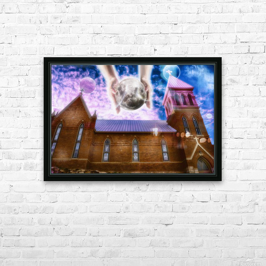 The Hands of God Church HD Sublimation Metal print with Decorating Float Frame (BOX)
