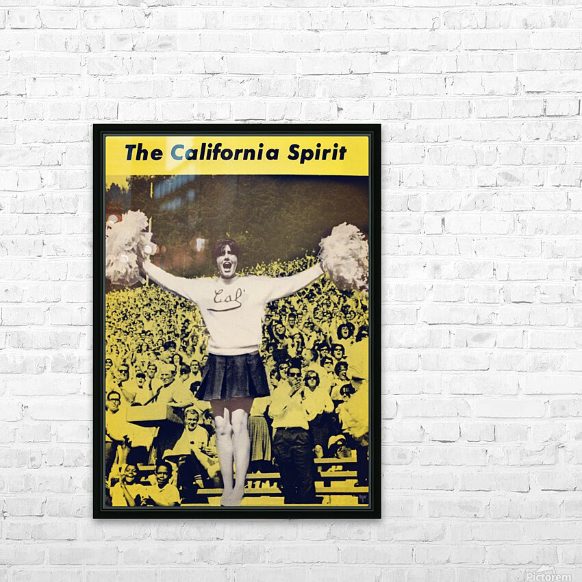 1965 California Cheerleader Photograph_Vintage College Cheerleading Uniform Photo HD Sublimation Metal print with Decorating Float Frame (BOX)