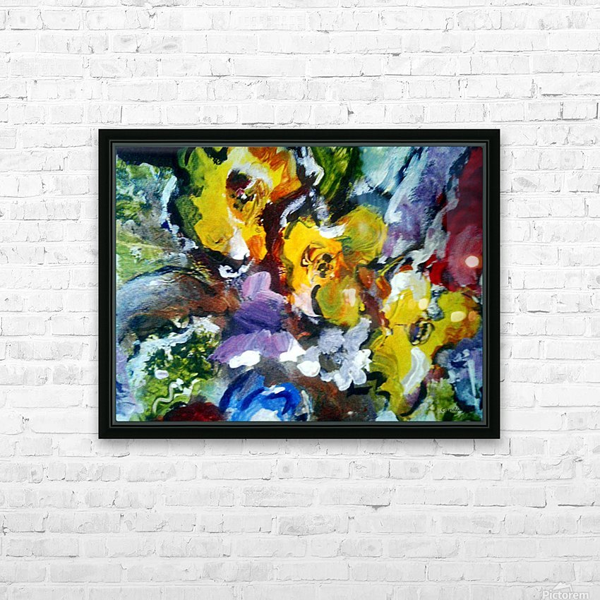 Primary Yellow HD Sublimation Metal print with Decorating Float Frame (BOX)
