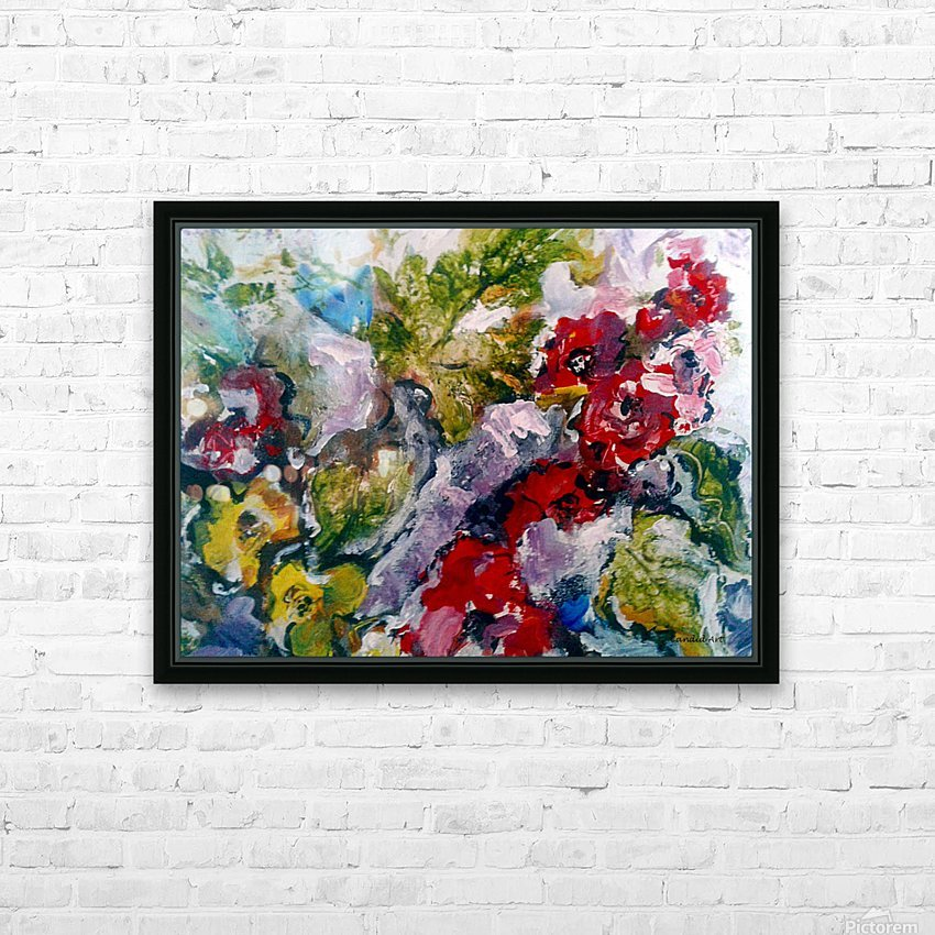 Flowers and Leaves HD Sublimation Metal print with Decorating Float Frame (BOX)