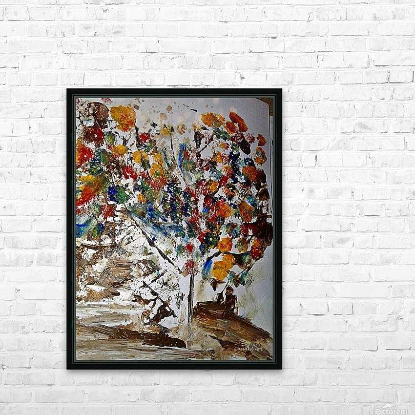 Trees 1 HD Sublimation Metal print with Decorating Float Frame (BOX)