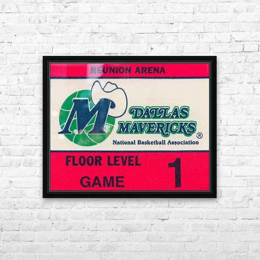 Vintage Dallas Mavericks Wall Art_Ticket Stub Artwork Reproduction HD Sublimation Metal print with Decorating Float Frame (BOX)