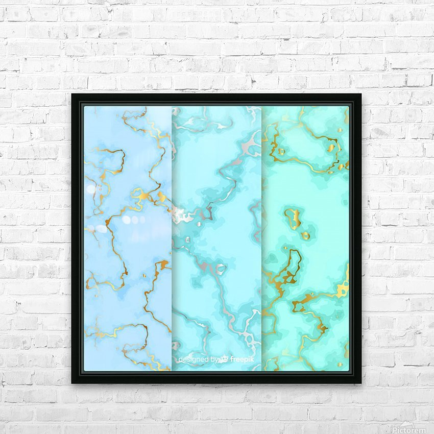 background marble set HD Sublimation Metal print with Decorating Float Frame (BOX)