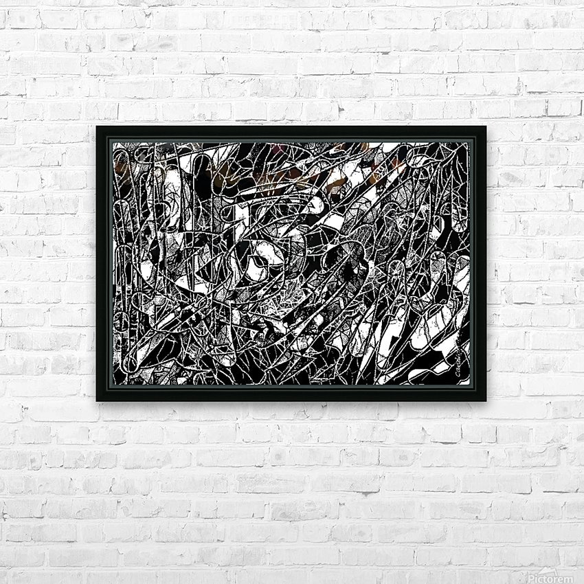 Black & White Art Threshold Texture HD Sublimation Metal print with Decorating Float Frame (BOX)
