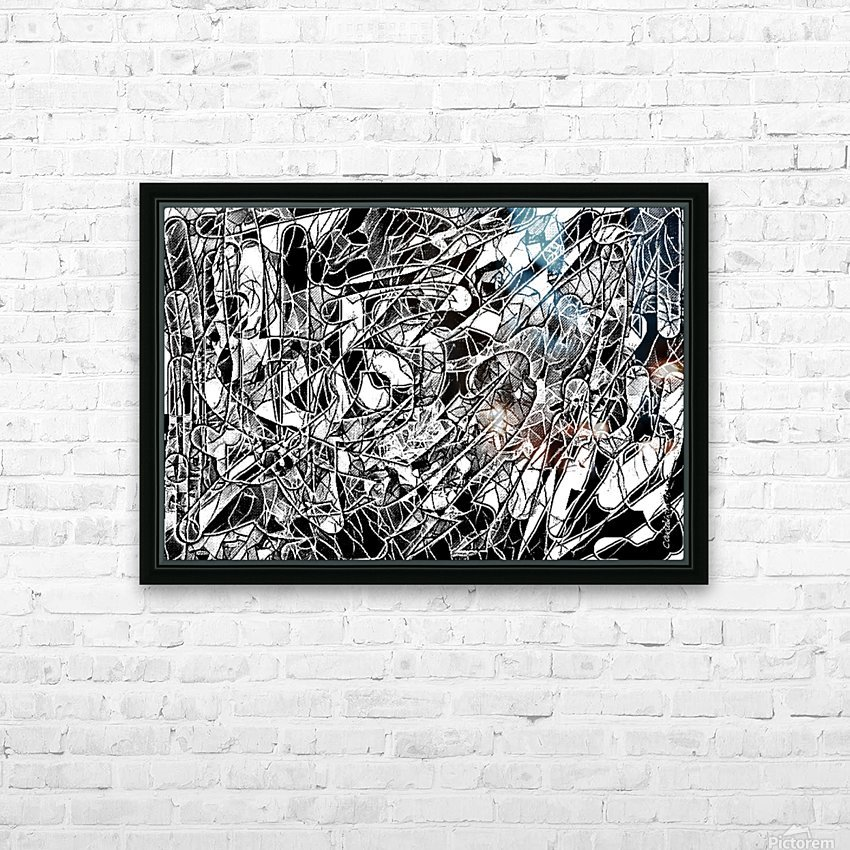 Black & White Art Threshold Light Texture HD Sublimation Metal print with Decorating Float Frame (BOX)