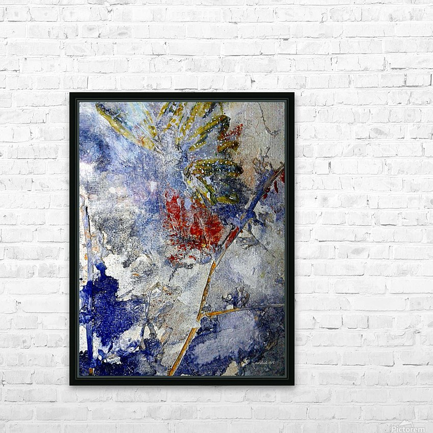 Abstract Single HD Sublimation Metal print with Decorating Float Frame (BOX)