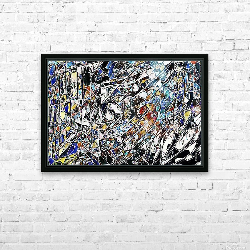 Color Art Abstract Pattern HD Sublimation Metal print with Decorating Float Frame (BOX)