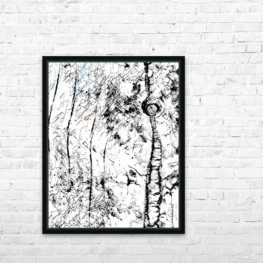 Black & White Texture Nature HD Sublimation Metal print with Decorating Float Frame (BOX)