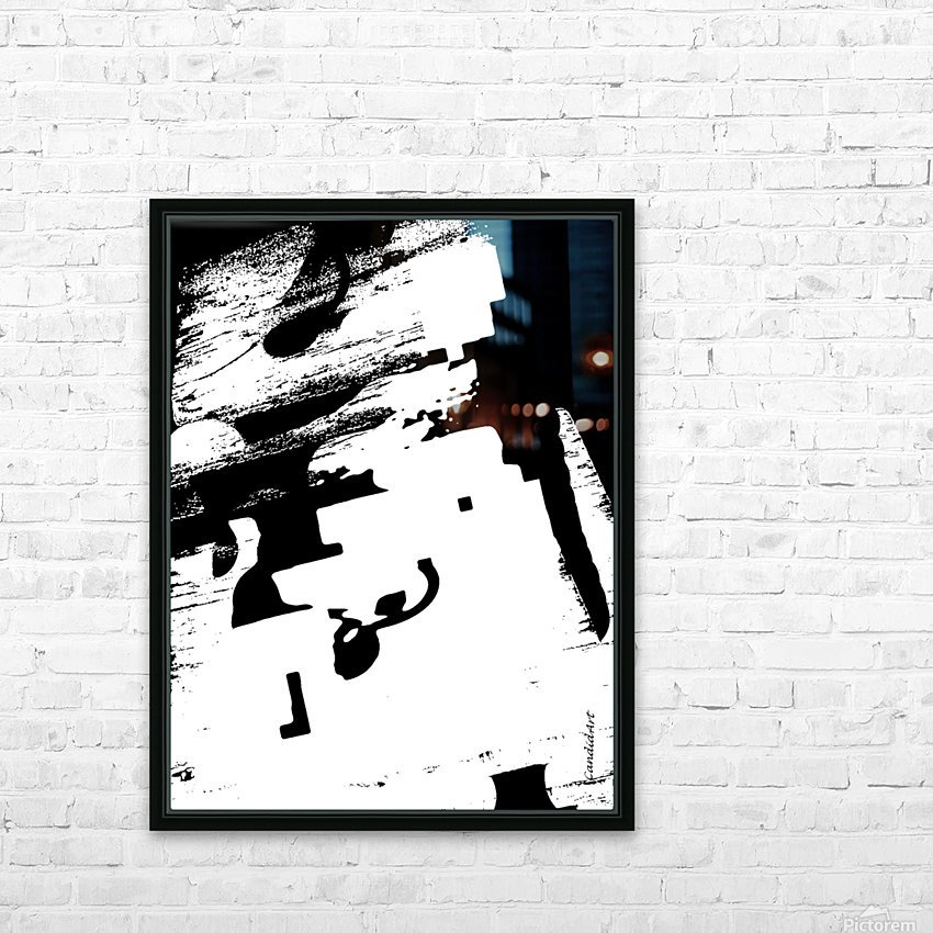 Black & White Form Texture Art D3200 1267 HD Sublimation Metal print with Decorating Float Frame (BOX)
