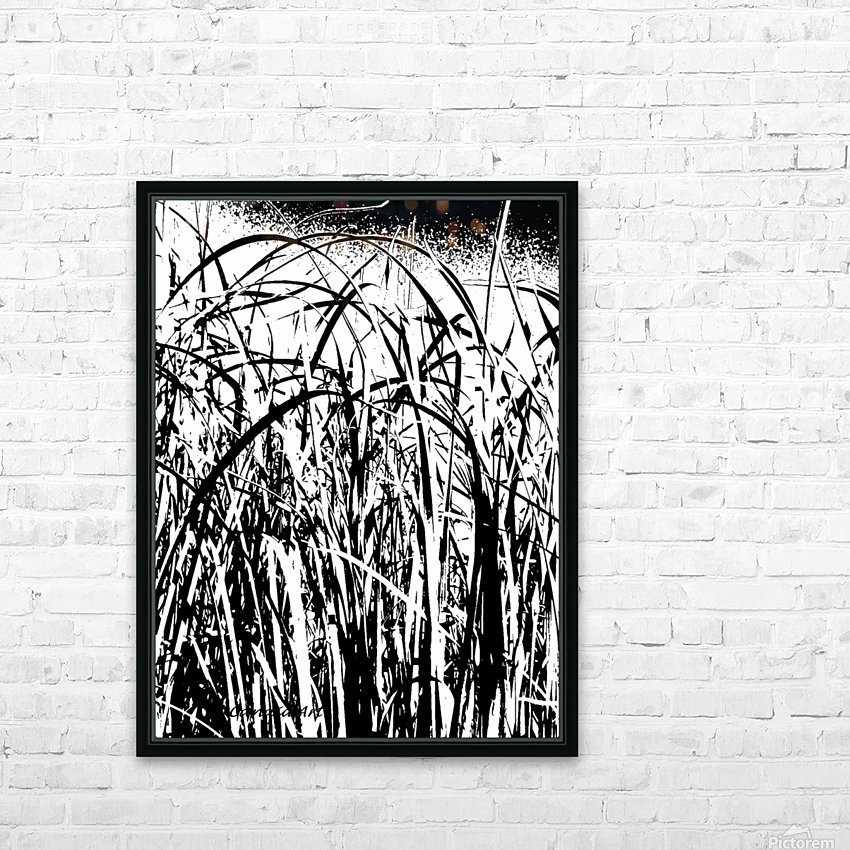 Black & White Nature Texture HD Sublimation Metal print with Decorating Float Frame (BOX)