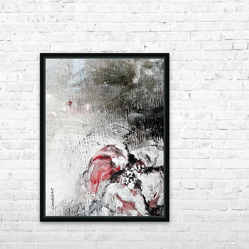 One Flower Red Black White HD Sublimation Metal print with Decorating Float Frame (BOX)