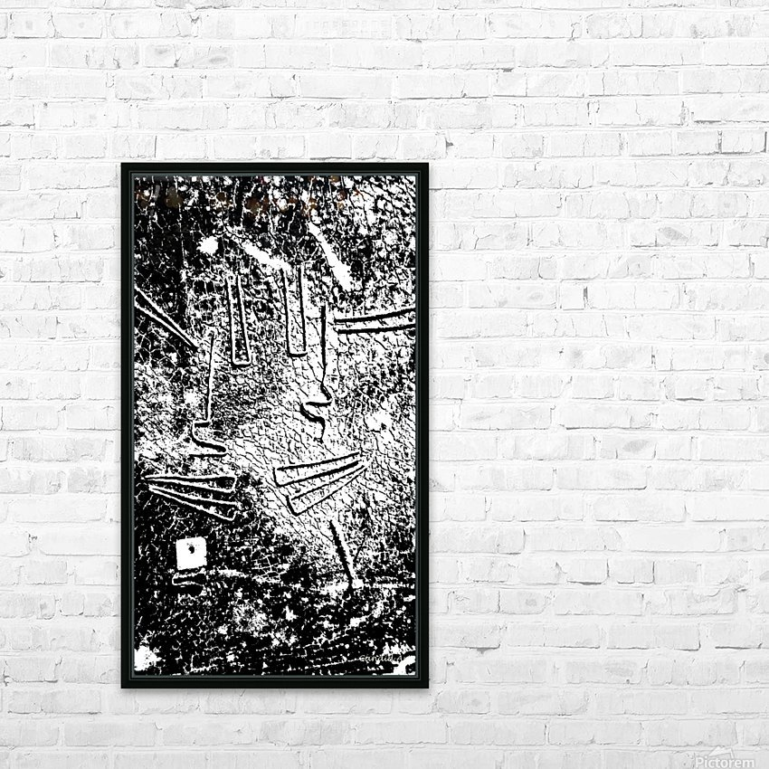 No.1 Black & White Design Art Texture HD Sublimation Metal print with Decorating Float Frame (BOX)