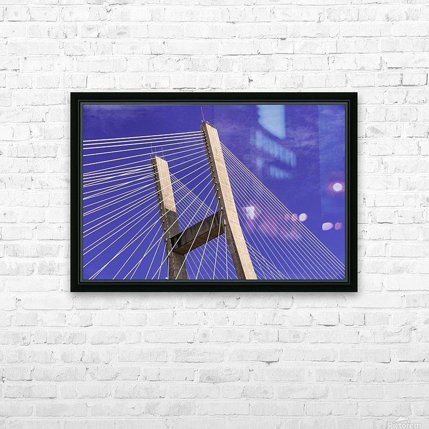 Talmadge Memorial Bridge   Savannah 04212 HD Sublimation Metal print with Decorating Float Frame (BOX)