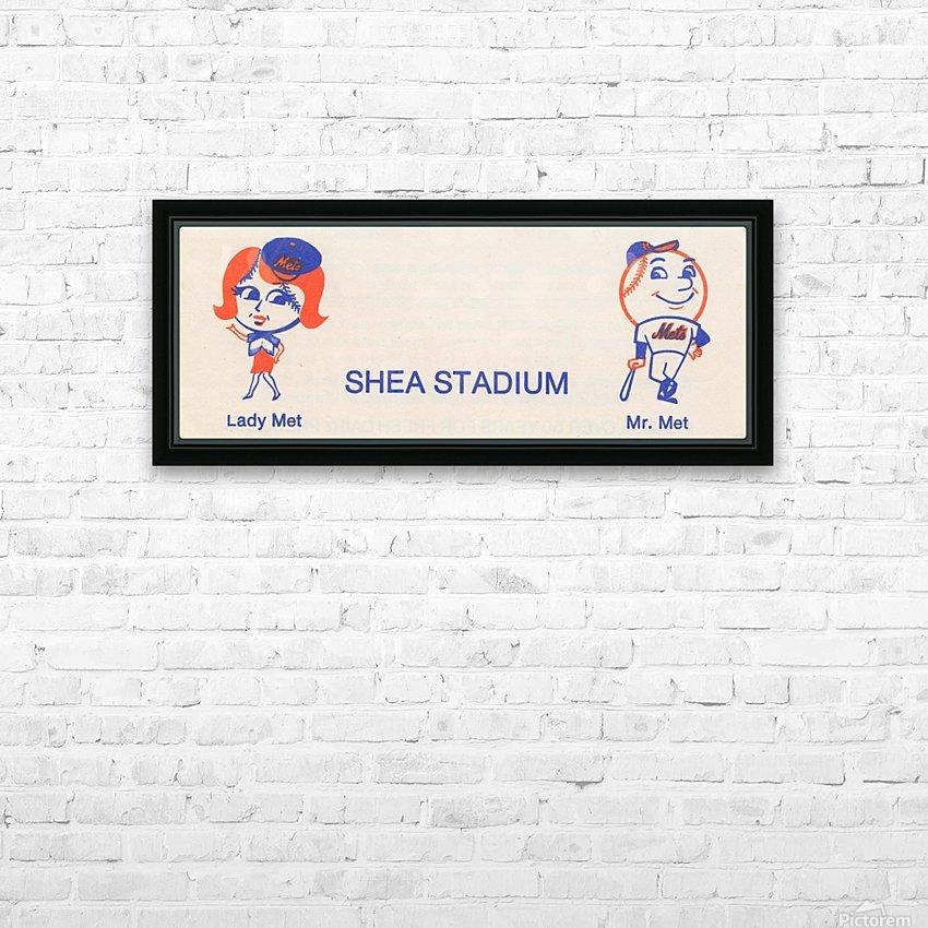 1977 new york mets art reproduction shea stadium retro baseball artwork row one brand HD Sublimation Metal print with Decorating Float Frame (BOX)