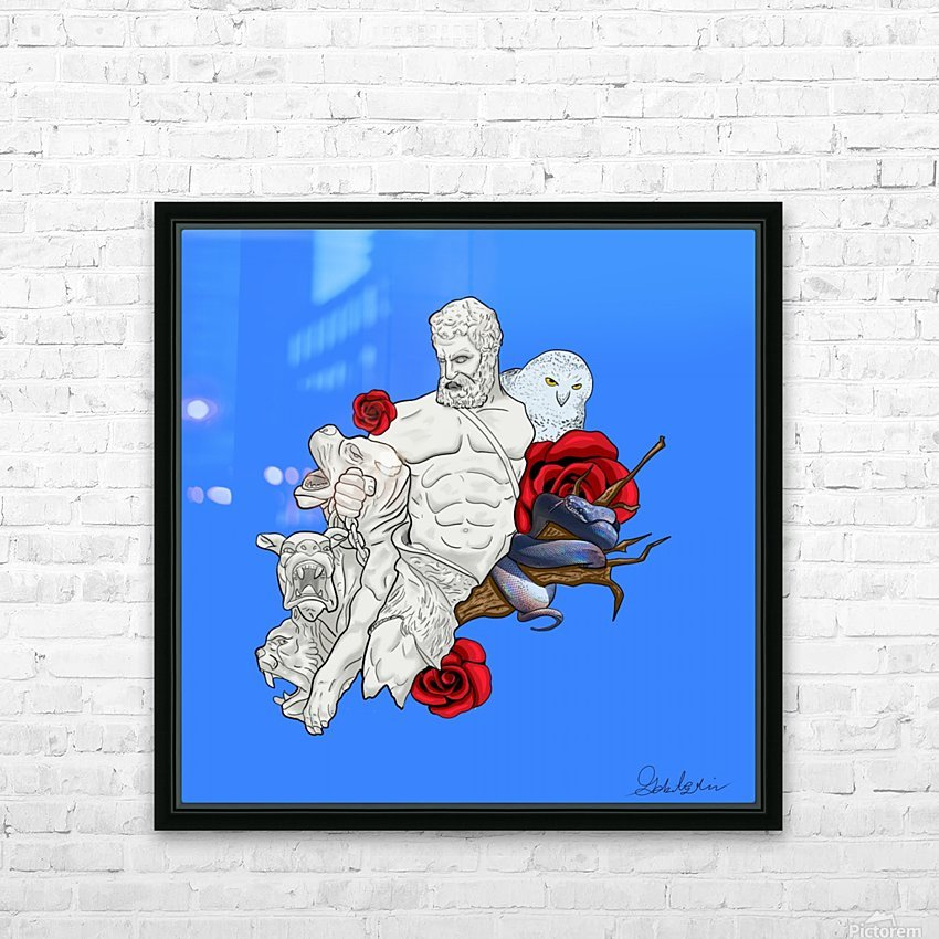 Beast Tamer HD Sublimation Metal print with Decorating Float Frame (BOX)