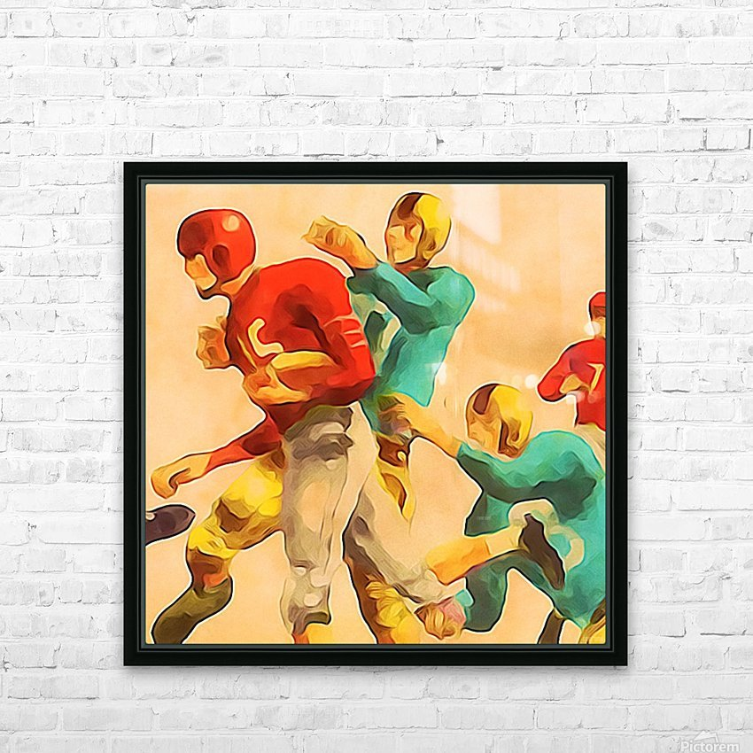 Vintage Football Jersey Art Print HD Sublimation Metal print with Decorating Float Frame (BOX)