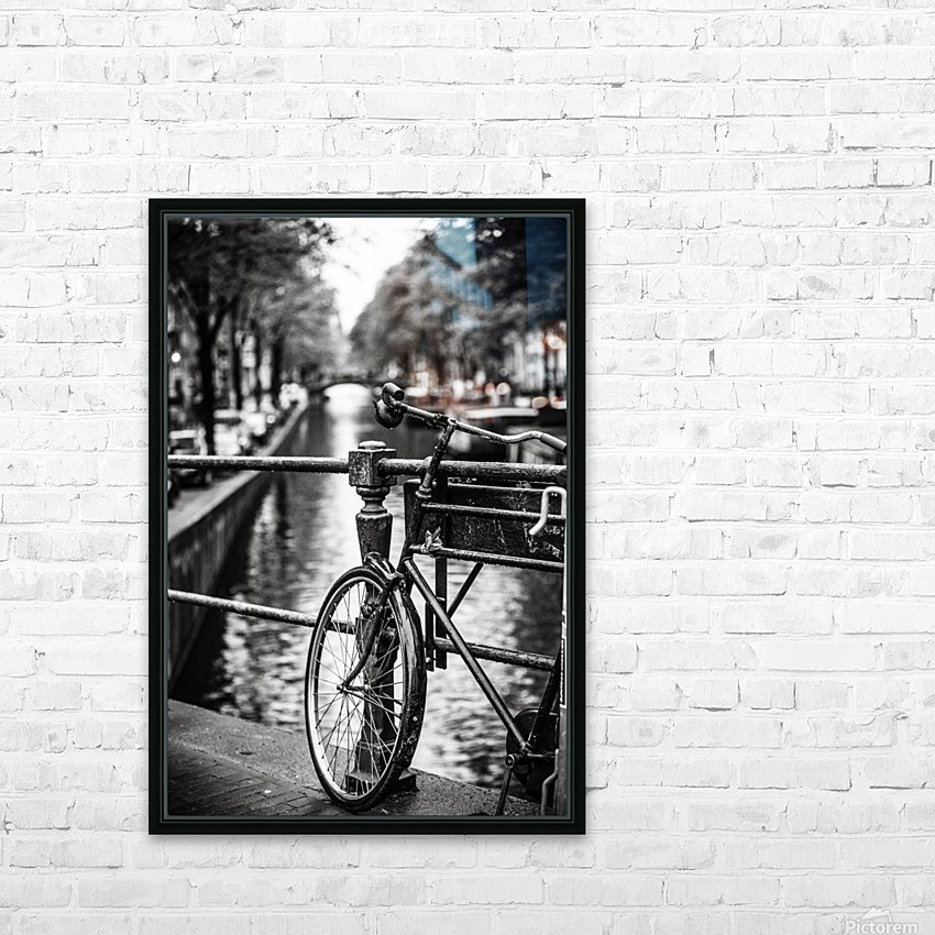 Amsterdam in a raining day HD Sublimation Metal print with Decorating Float Frame (BOX)