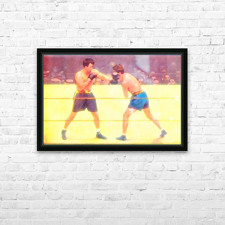 Vintage Boxing Art HD Sublimation Metal print with Decorating Float Frame (BOX)