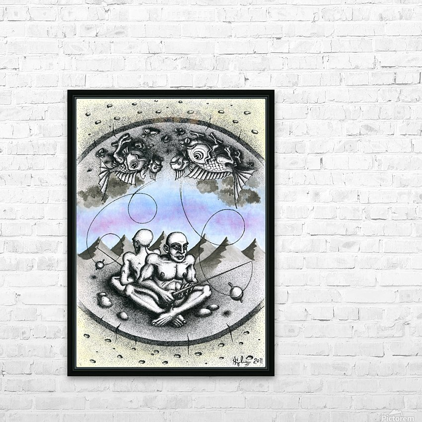 Fish_places HD Sublimation Metal print with Decorating Float Frame (BOX)