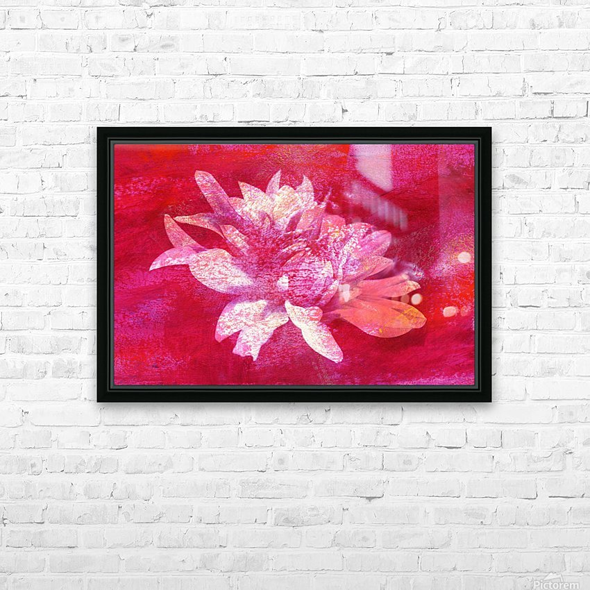 Modern Pink Dahlia HD Sublimation Metal print with Decorating Float Frame (BOX)