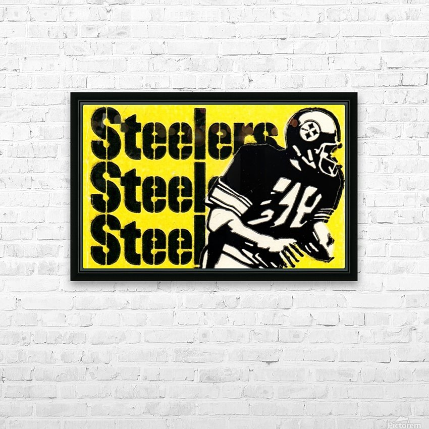 Row One Brand Vintage Pittsburgh Steelers Football Art Print Art Reproduction (1974) HD Sublimation Metal print with Decorating Float Frame (BOX)