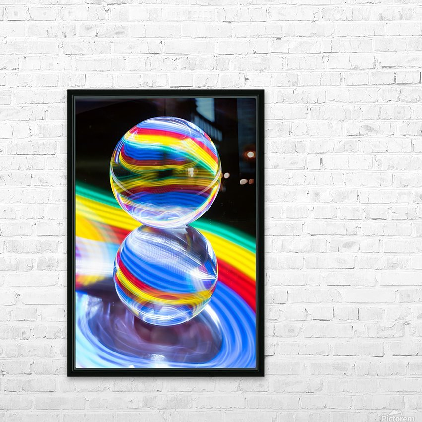Crystal Ball HD Sublimation Metal print with Decorating Float Frame (BOX)