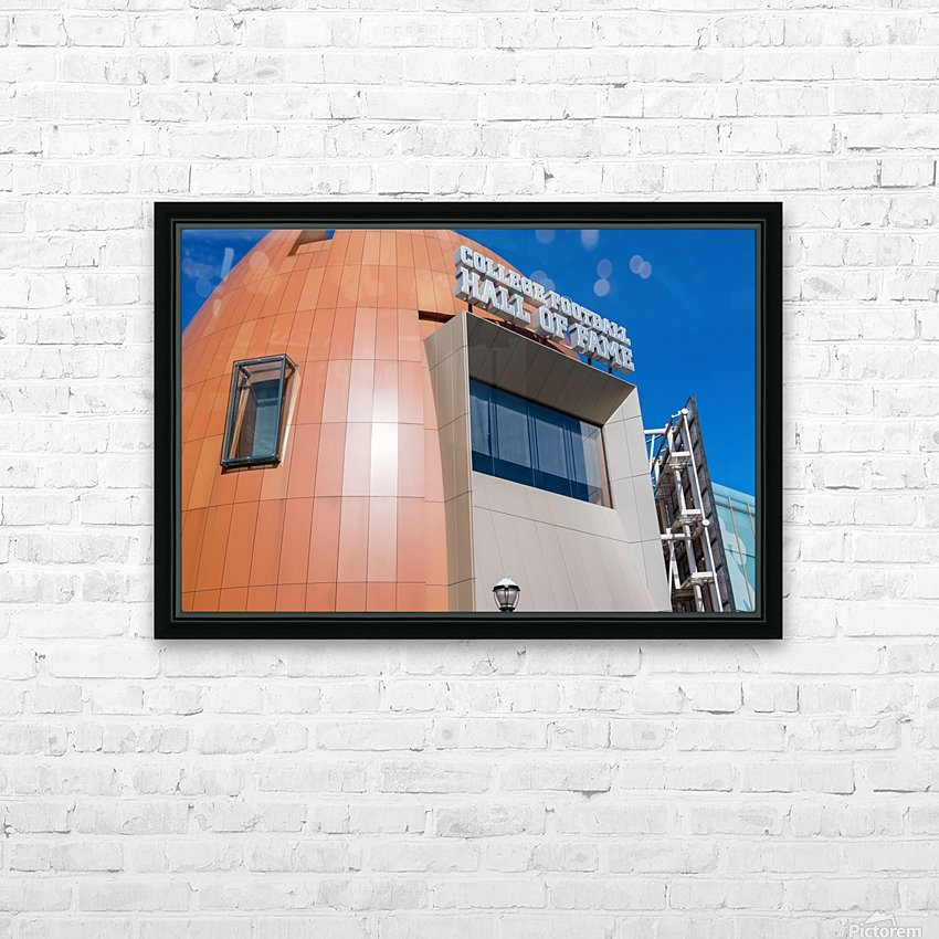 College Football Hall of Fame   Atlanta GA 7363 HD Sublimation Metal print with Decorating Float Frame (BOX)