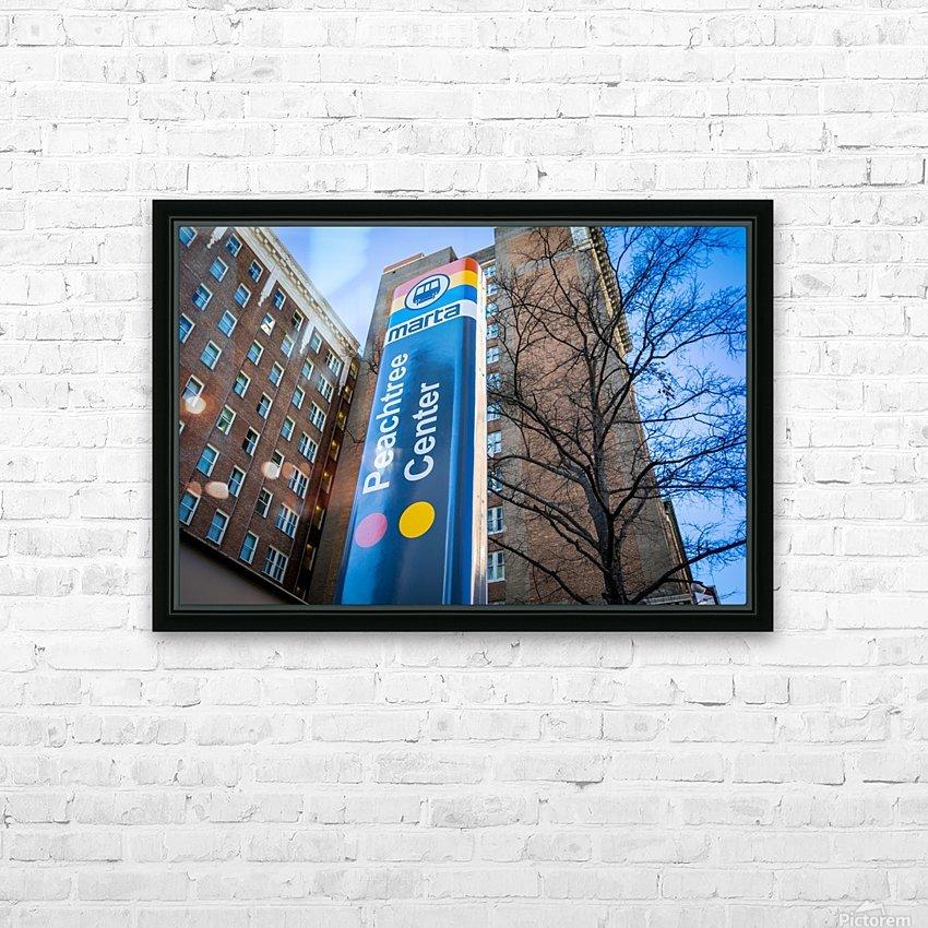 Marta Peachtree Center Sign   Atlanta GA 1823 HD Sublimation Metal print with Decorating Float Frame (BOX)