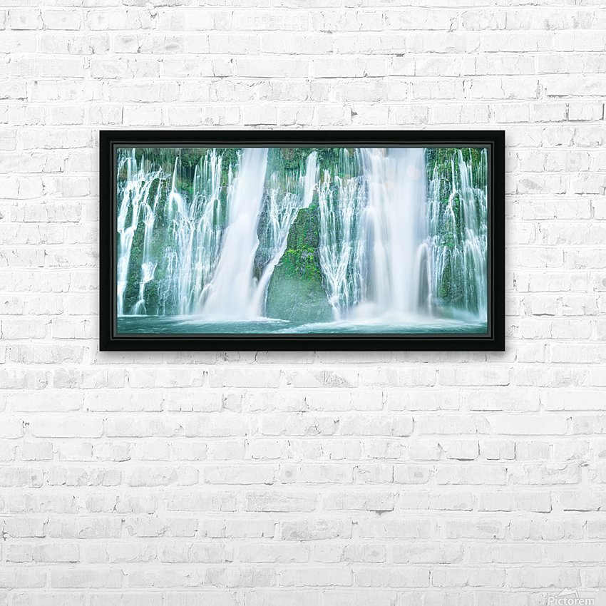 The Flowing Wall HD Sublimation Metal print with Decorating Float Frame (BOX)