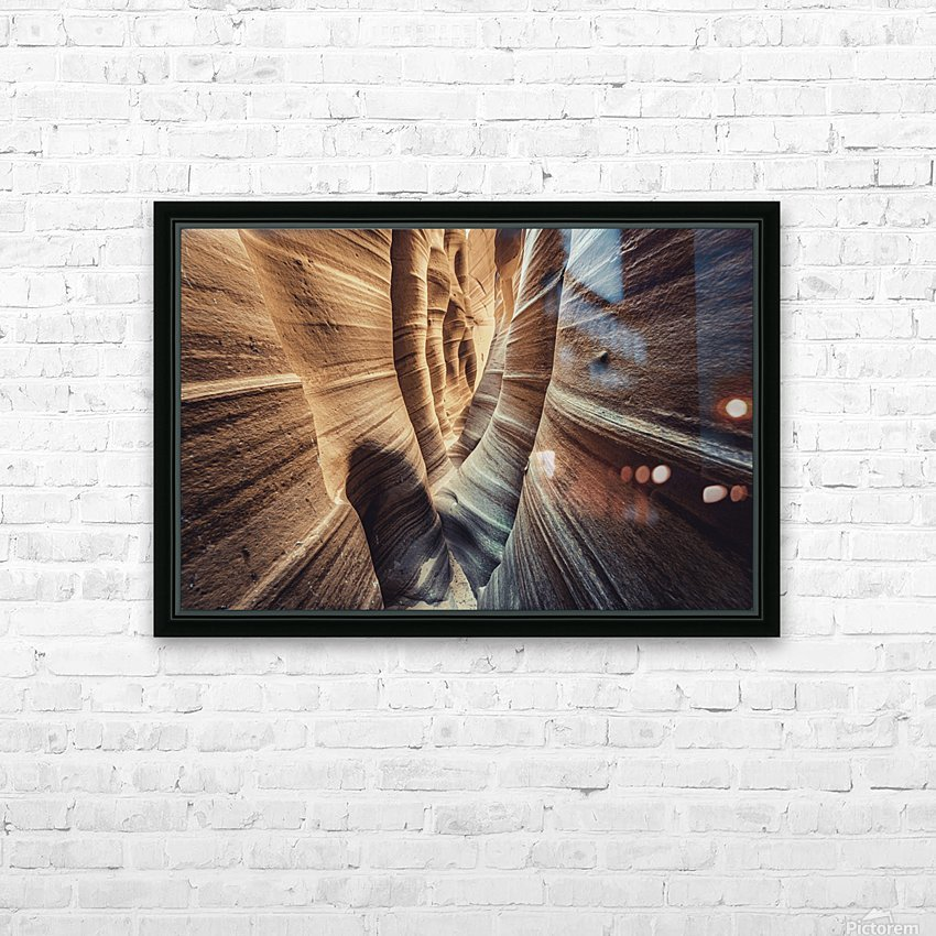 Zebra Slot Canyon II HD Sublimation Metal print with Decorating Float Frame (BOX)