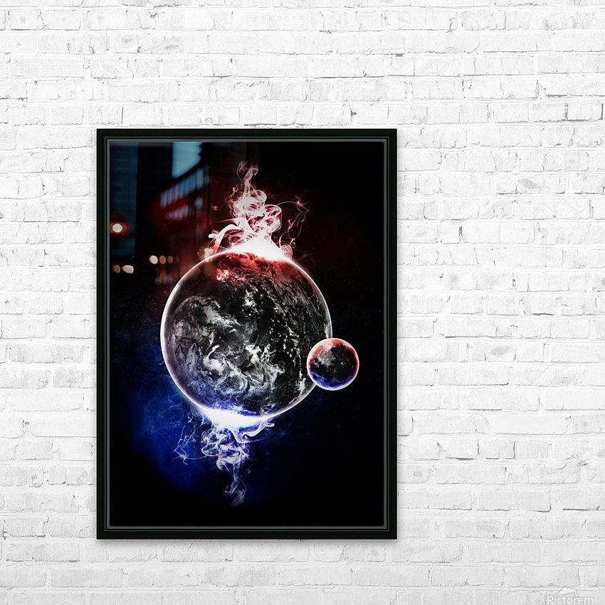 Earth Atmospheric Vapors HD Sublimation Metal print with Decorating Float Frame (BOX)