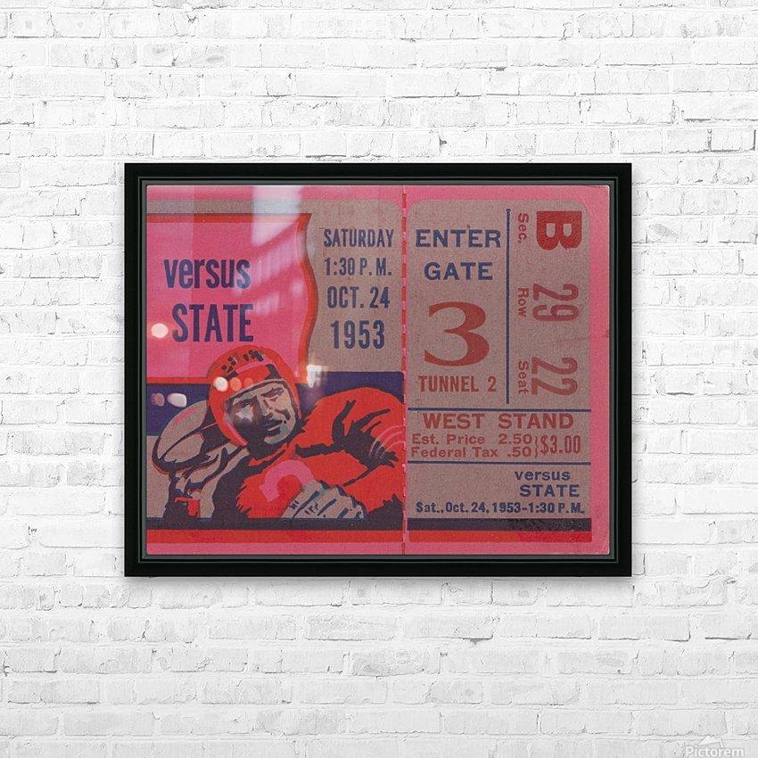 Vintage Football Ticket Stub Art  HD Sublimation Metal print with Decorating Float Frame (BOX)