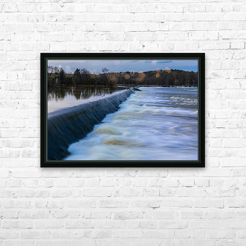 Savannah River Rapids in Columbia County   Augusta GA 6254 HD Sublimation Metal print with Decorating Float Frame (BOX)