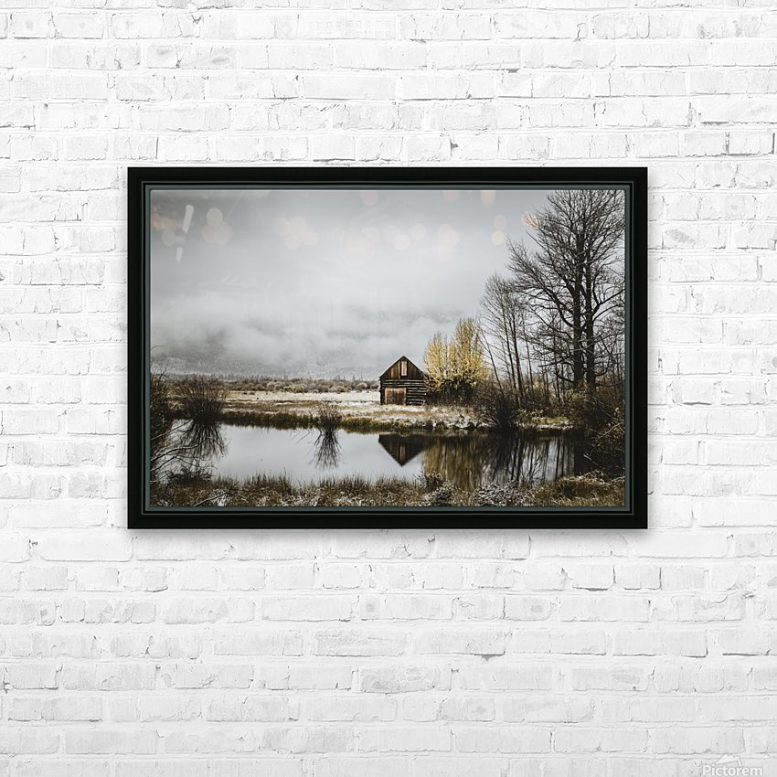 The Cabin HD Sublimation Metal print with Decorating Float Frame (BOX)