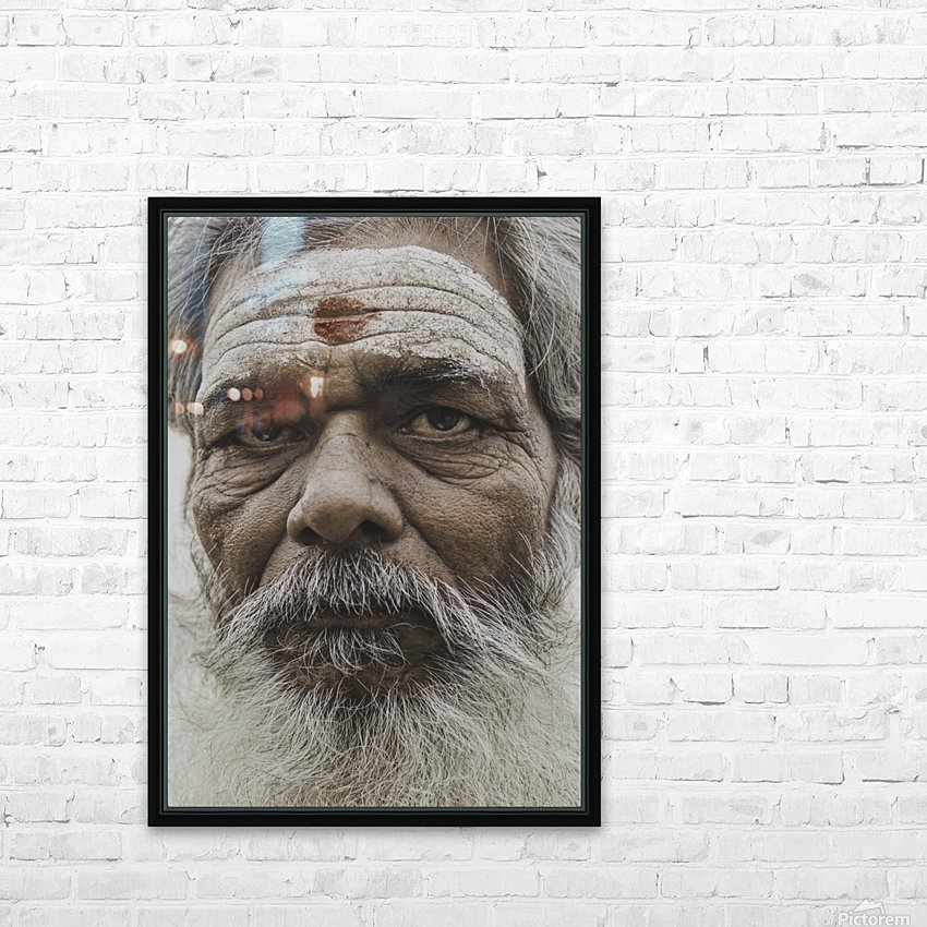 The Holy Man of Varanasi HD Sublimation Metal print with Decorating Float Frame (BOX)