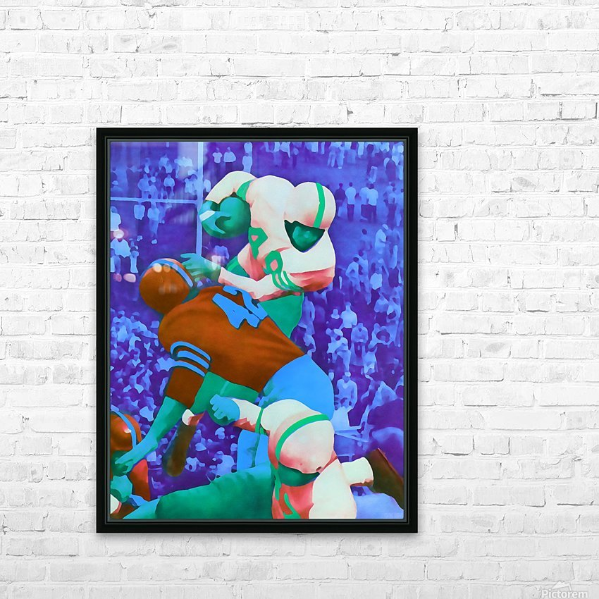 Vintage Football Art_Vintage Sports Artwork Print_Sports Home Decor HD Sublimation Metal print with Decorating Float Frame (BOX)