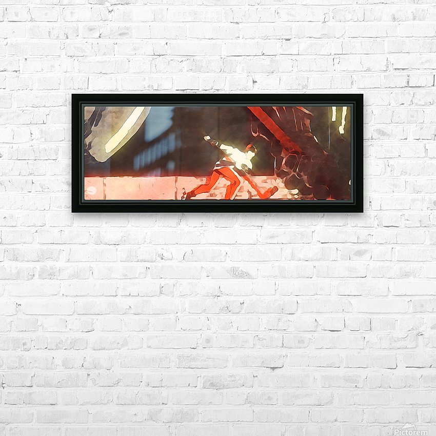 Vintage Hockey Artwork_Hockey Posters HD Sublimation Metal print with Decorating Float Frame (BOX)