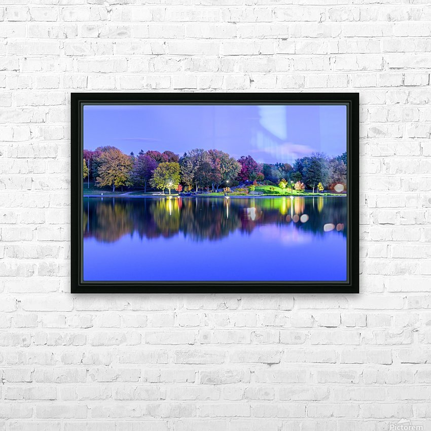 Beaver lake reflection HD Sublimation Metal print with Decorating Float Frame (BOX)