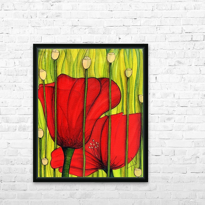 Coastal poppies HD Sublimation Metal print with Decorating Float Frame (BOX)