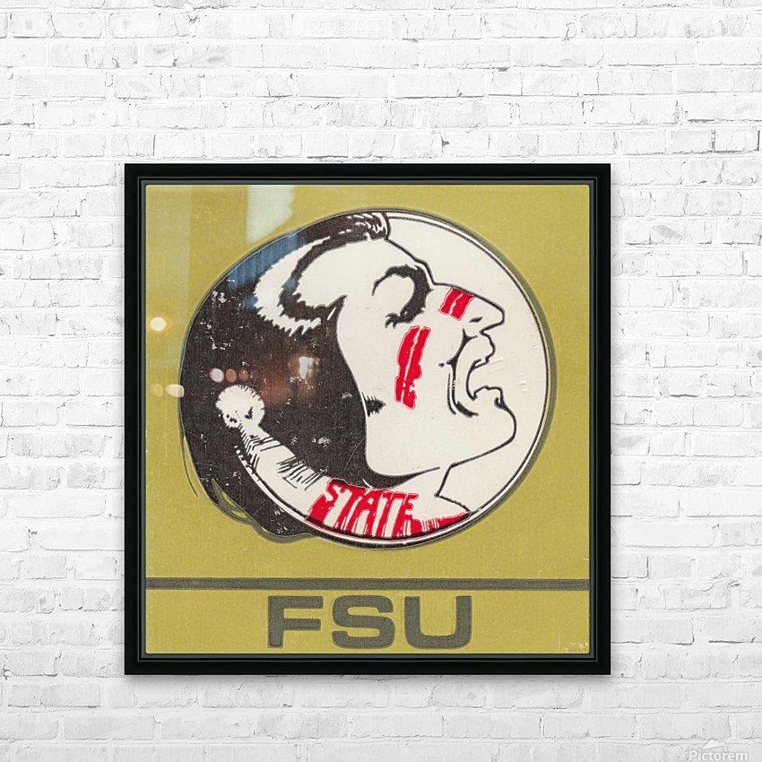 Vintage FSU Florida State University Seminoles Art_Ticket Stub Art Reproduction Print HD Sublimation Metal print with Decorating Float Frame (BOX)
